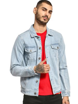 K Denim KOOVS Overdyed Trucker Denim Jacket