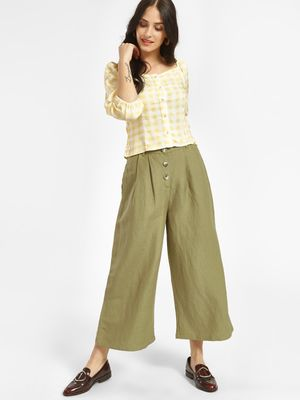 Cover Story High Waist Cropped Palazzo Pants