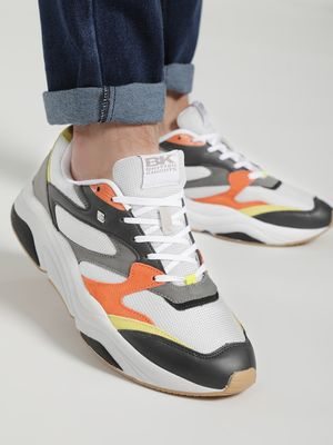 BRITISH KNIGHTS Colour Block Suede Panel Trainers