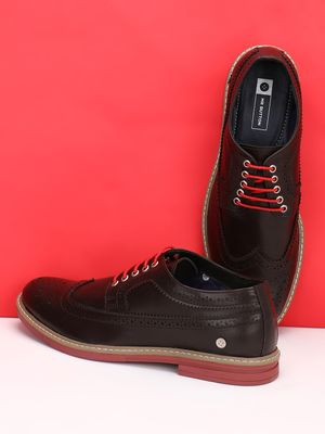 Mr Button Brogue Punches Derby Shoes