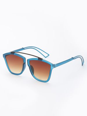 KOOVS Coloured Frame Square Sunglasses