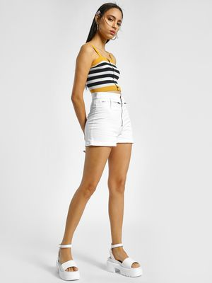 K Denim KOOVS High Waist Denim Shorts