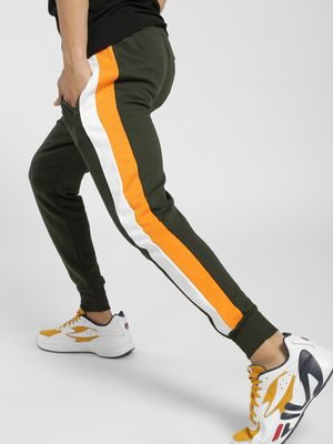 Brave Soul Colour Block Side Tape Joggers
