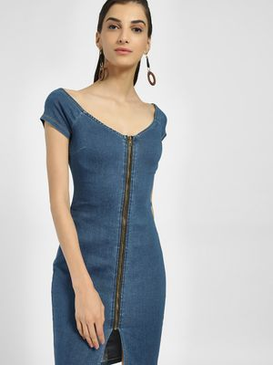 Iris Off-Shoulder Denim Dress
