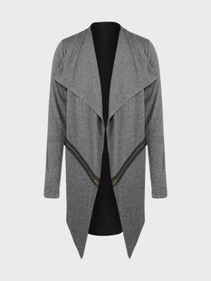 Kultprit Contrast Back Waterfall Cardigan