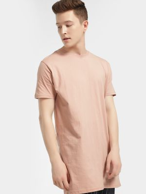 Brave Soul Basic Short Sleeve Longline T-Shirt