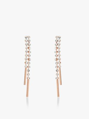 Saks London Diamante Embellished Drop Earrings
