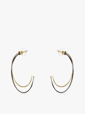 Saks London Elliptic Double Hoops