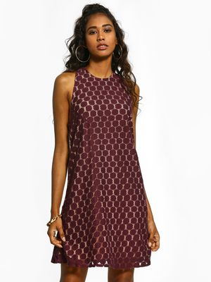The Paperdoll Company T-Back Lace Skater Dress