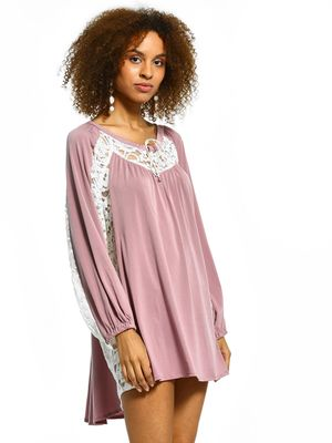 The Paperdoll Company Lace Insert Shift Dress