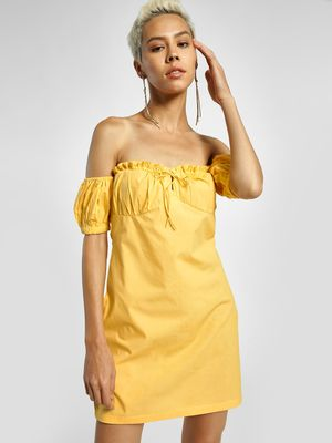 KOOVS Ruffled Off-Shoulder Shift Dress
