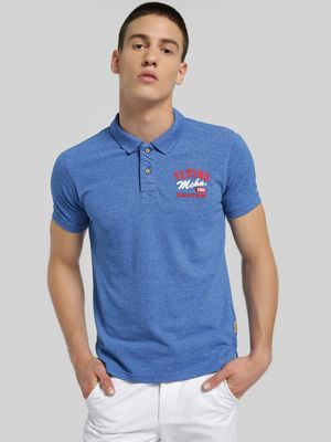 Flying Machine Embroidered Logo Knitted Polo Shirt