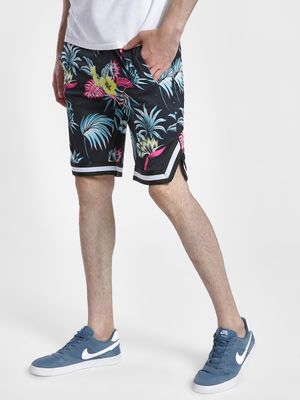 KOOVS Spliced Floral Baseball Shorts