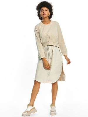 Origami Lily Twofer Button-Down Midi Dress