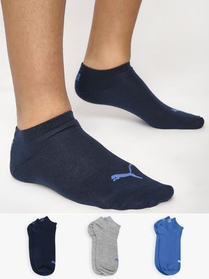 Puma Unisex Sneaker Socks (Pack Of 3)