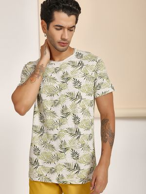 Buffalo Tropical Leaf Print T-Shirt