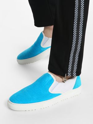 KOOVS Velour Panel Slip-On Shoes