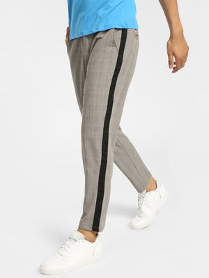 Spring Break Glen Check Side Tape Trousers