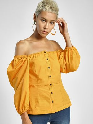 Ri-Dress Off-Shoulder Balloon Sleeve Blouse