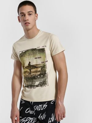 Leo Sansini Graphic Text Placement Print T-Shirt
