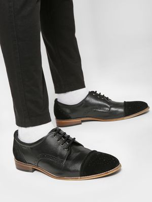 Bolt Of The Good Stuff Brogue Punches Derby Shoes