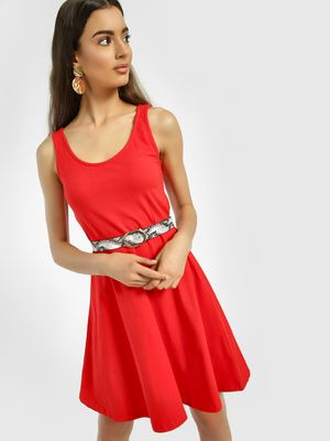 KOOVS Scoop Neck Skater Dress