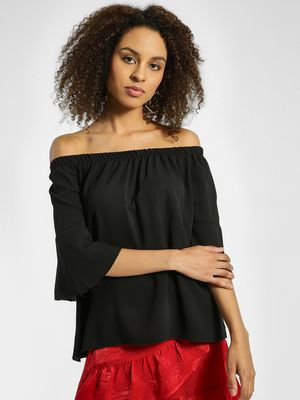 Quiz Flute Sleeve Off-Shoulder Top