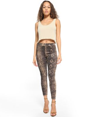 KOOVS All Over Snake Print Leggings