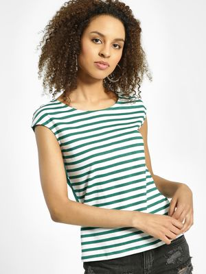 United Colors of Benetton Stripe Polka Dot Print T-Shirt