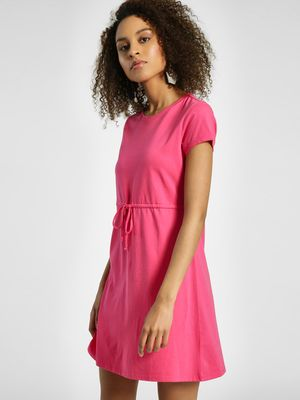 United Colors of Benetton Drawstring Waist Shift Dress