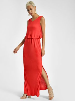 United Colors of Benetton Layered Sleeveless Maxi Dress