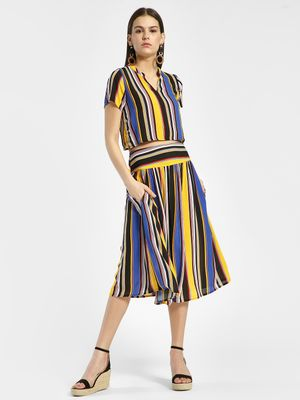 Rena Love Multi Stripe Midi Skirt