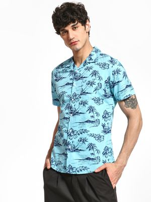 Spring Break Floral Island Print Cuban Shirt