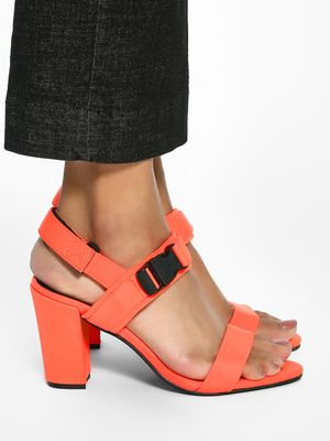 KOOVS Buckle Strap Heeled Sandals