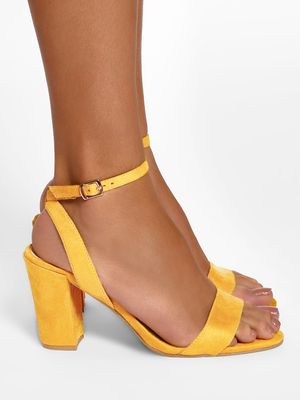 KOOVS Suede Block Heeled Sandals