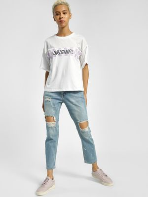 Privy League Ripped Light Wash Boyfriend Jeans