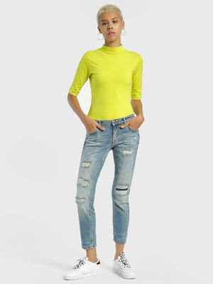 Privy League Ripped Light Wash Slim Jeans