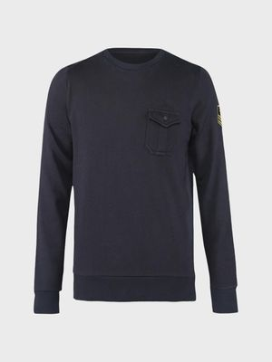 Brave Soul Patch Pocket Crew Neck Sweatshirt
