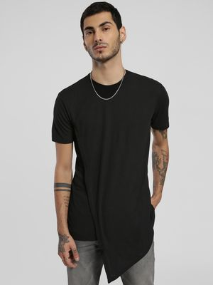 Alcott Ribbed Asymmetric Hem T-Shirt