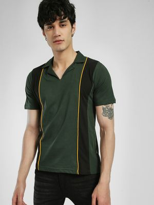 Rigo Cut & Sew Contrast Detail Polo Shirt