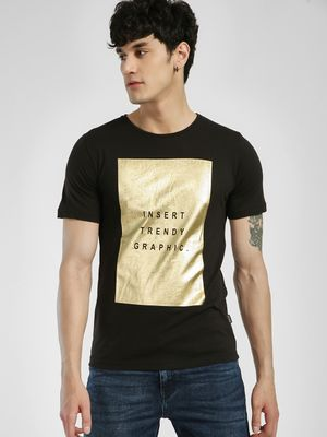 Rigo Foil Placement Print T-Shirt