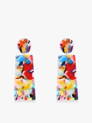VOODOO VIXEN Resin Geometric Drop Earrings