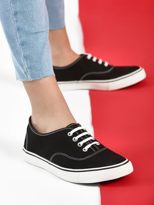 KOOVS Lace-Up Plimsoll Shoes