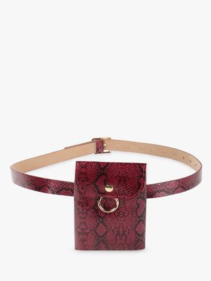 KOOVS Snakeskin O-Ring Bum Bag