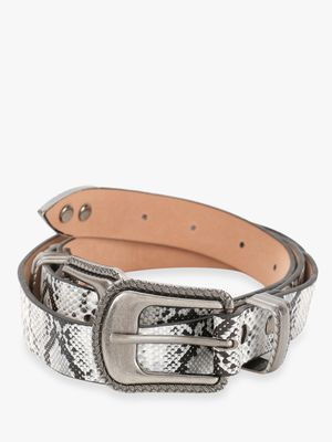 KOOVS Snakeskin Twin Buckle Belt