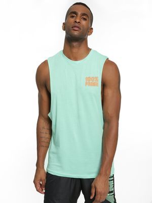 KOOVS Smiley Fruit Text Print Vest