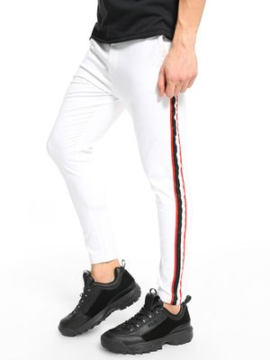 TRUE RUG Contrast Side Stripe Chinos