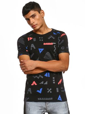 IMPACKT Abstract Geometric Print T-Shirt
