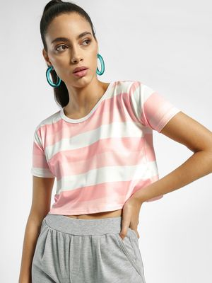 EmmaCloth Stripe Crop T-Shirt