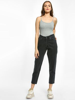 K Denim KOOVS Basic Cropped Boyfriend Jeans